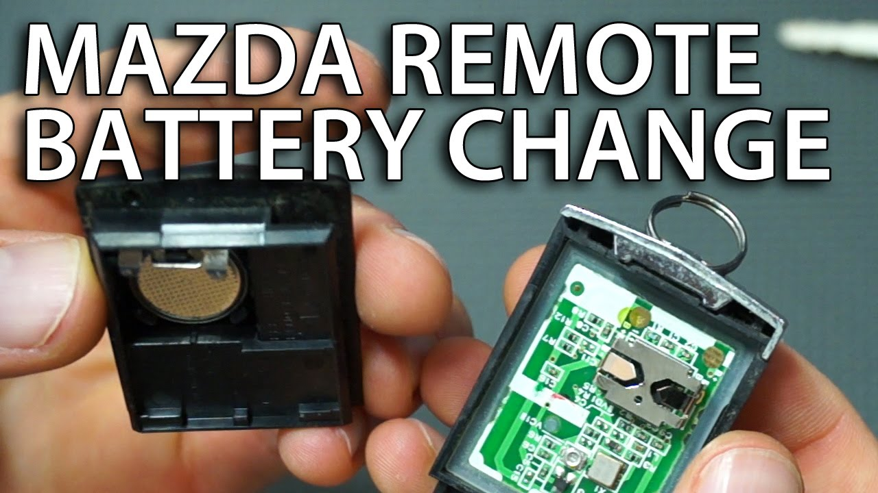 how to replace battery in mazda remote (6, 3, 5, 2, mpv, rx-8, cx