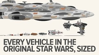 Every original Star Wars trilogy vehicle to scale