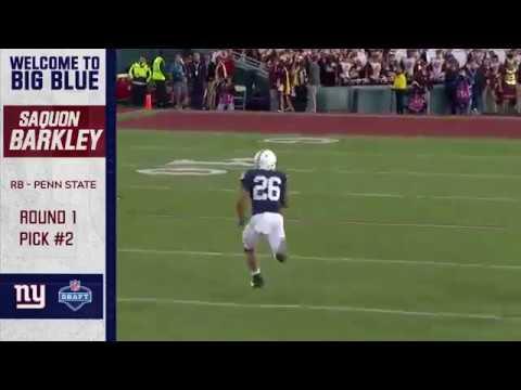 ac4f7ffa Highlights: New York Giants running back Saquon Barkley - YouTube