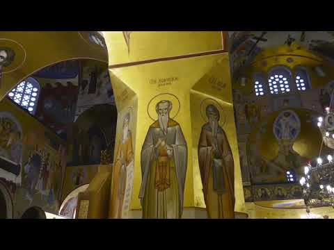 A service at the Serbian Orthodox Church in Podgorica Montenegro