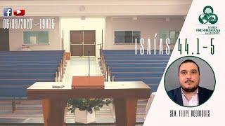 Reflexão: Isaías 44.1-5 - IPT