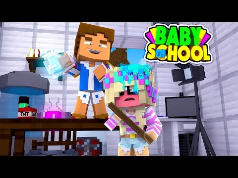 Minecraft BABY SCHOOL || BABY DONNY TURNS HIS TEACHER INTO BABY LEAH || Minecraft Roleplay
