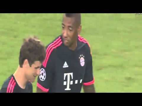 Thomas Mueller Amazing Goal   Olympiakos vs Bayern Munich 0 1 16 9 2015 Champions League