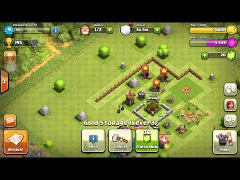 Clash Of Clans Upgrading level 5 Gold Storage