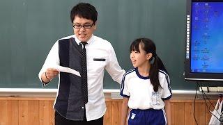 原発事故で福島県川俣町に避難している飯舘村の3小学校の合同仮設校舎...