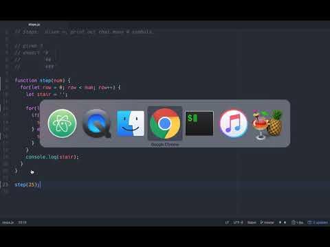 Javascript interview question (the step algorithm)
