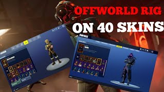 "Offworld Rig On 40 Skins| The Visitor ""Blockbuster"" Fortnite Rare Skins"