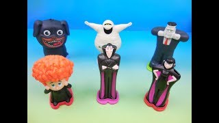2018 HOTEL TRANSYLVANIA 3 SET OF 6 BURGER KING KIDS MEAL MOVIE TOYS VIDEO REVIEW