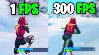 What it feels like to play in 300 FPS - Fortnite Frame rate Comparison 60 vs 144 FPS vs 240 FPS/hz