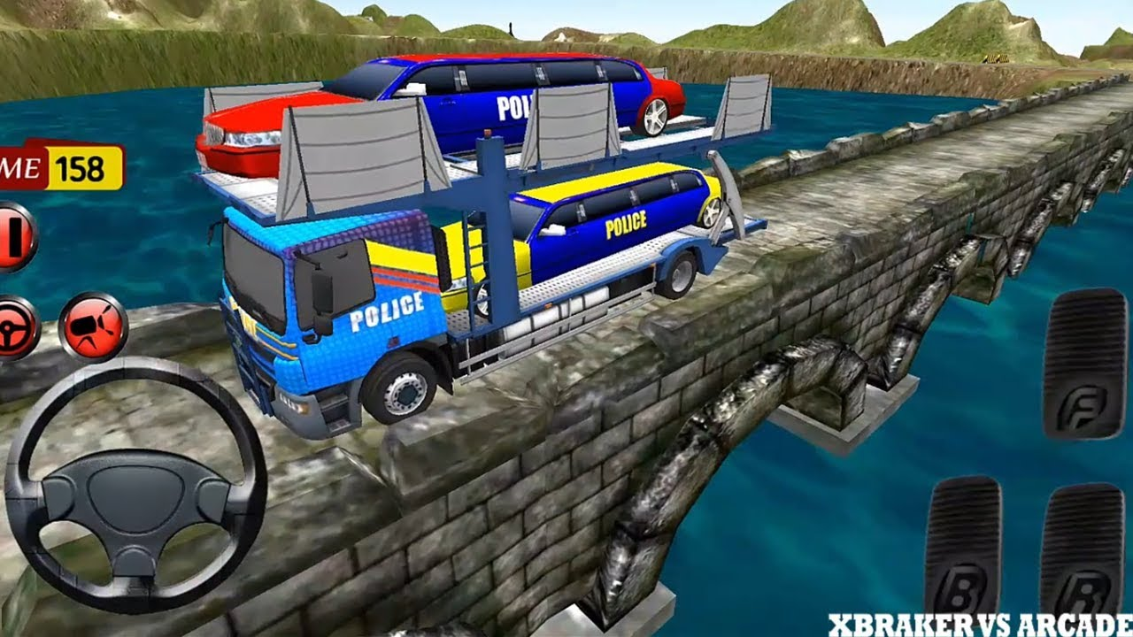 Police Car Transporter Trailer 3D NYPD | Police Limousine Truck Transporter - Android GamePlay 2018
