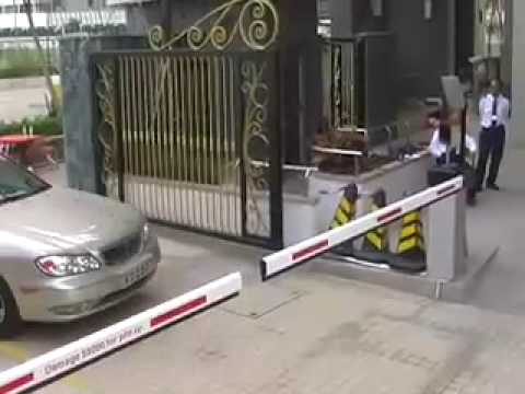 RFID parking access control long range system - YouTube