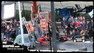 DEADPOOL MOVIE Behind the Scenes: Deadpool Smashes into Car!