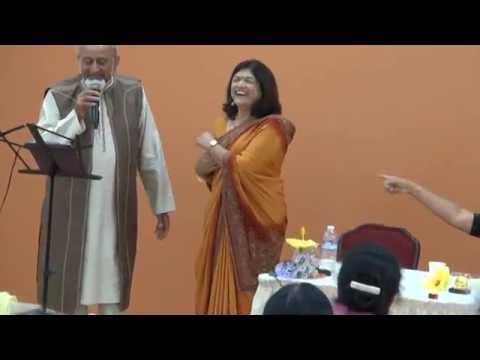 Kanti and Champa - Kanit singing Karaoke song on 47th Wedding Anniversary 09-09-2016   M2U03142