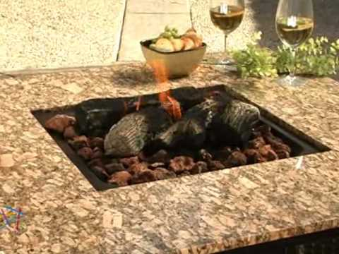 Uniflame Granite Table Propane Fire Pit   Product Review Video