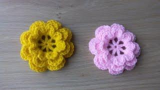 Tığ işi çiçek yapımı/Örgü modelleri
