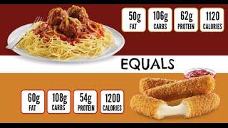 Olive Garden Spaghetti And Meatballs And Mcdonalds Mozzarella Sticks - Equals Episode 67
