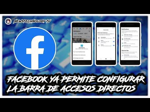 Facebook Ya Permite Configurar La Barra De Accesos Directos / NewsTechnology Tv