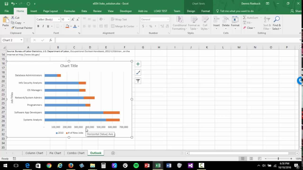 ms excel change axis value display units