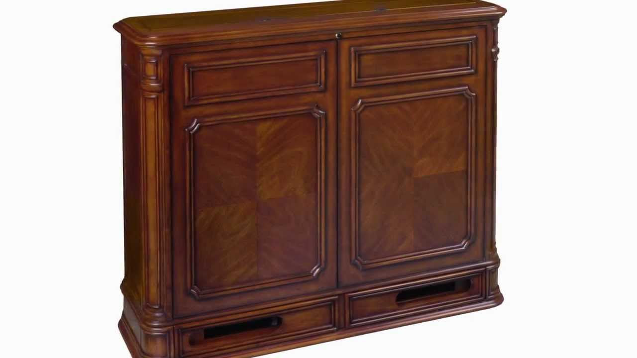 crystal pointe 360 swivel tv lift cabinet