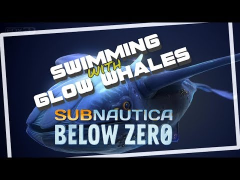Subnautica Below Zero Swimming With Glow Whales