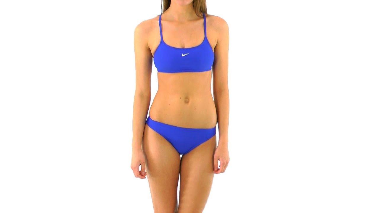 48ccf9ad83 Nike Swim Nylon Core Solids Sport Top 2PC