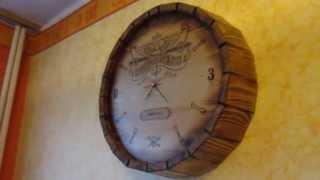 Деревянные часы - бочка.(, 2015-04-24T13:16:04.000Z)