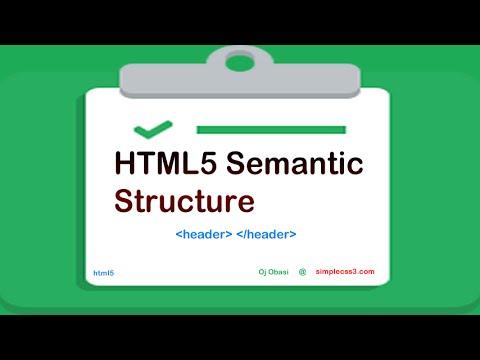 Html5 Semantic Structure Elements