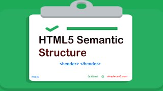Html5 Semantic Structure Elements