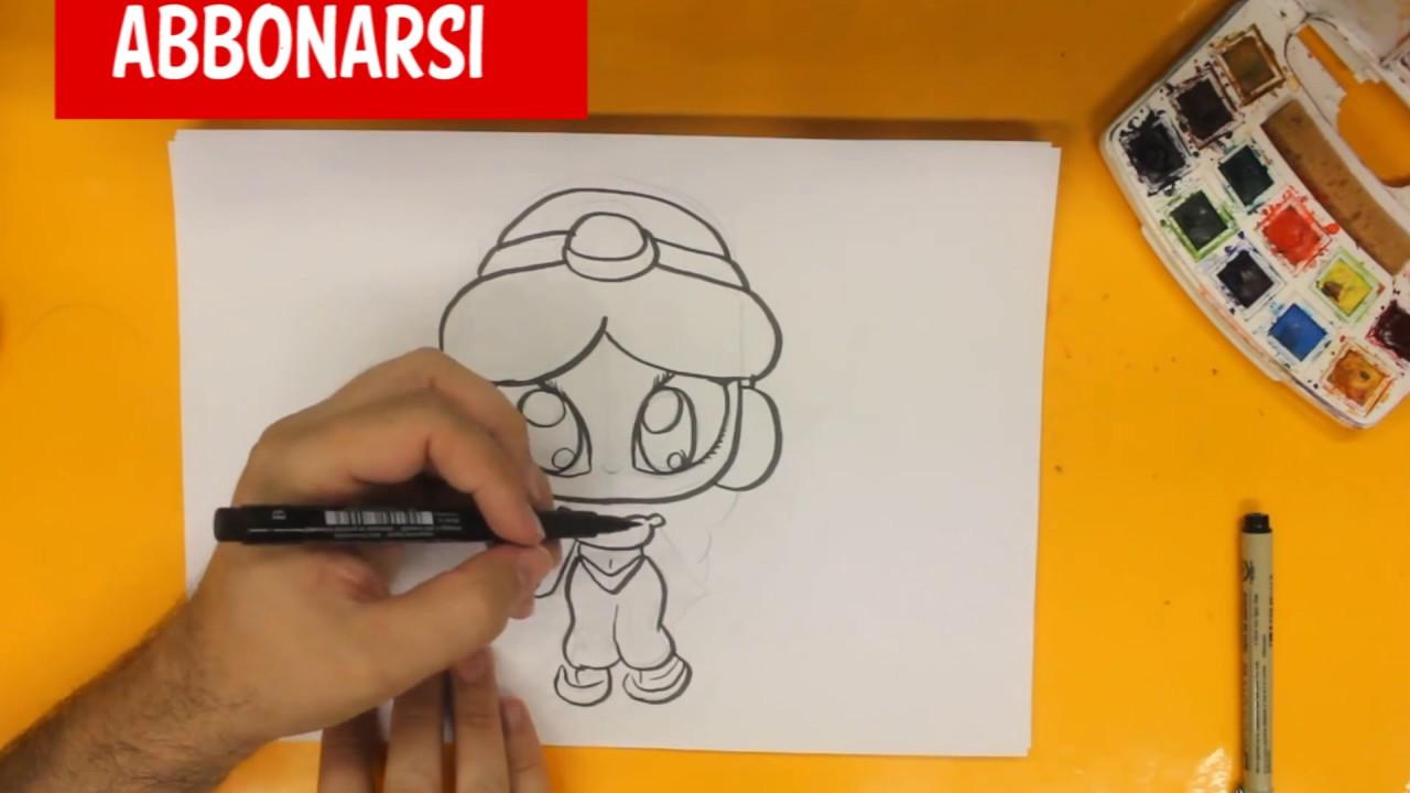 Come disegnare principessa jasmine kawaii passo dopo passo for Disegni disney facili da disegnare
