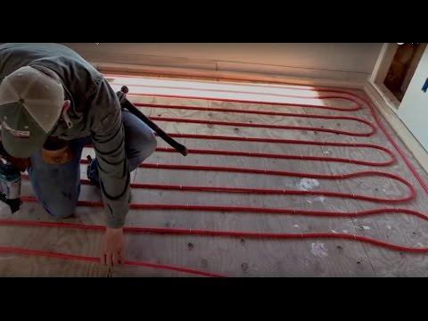 It Poured Inside - Installing Radiant Heat over Wood Subfloor - EP 32 Alaska Dream House Build