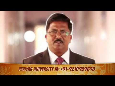 Periyar University Distance Education Admission  Courses in MBA at Salem Tamilnadu