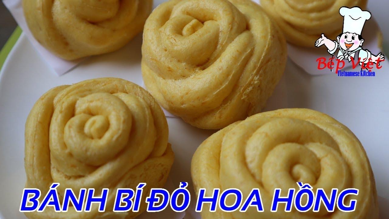 Món ngon #151 | Cách làm BÁNH BÍ ĐỎ HÌNH HOA HỒNG Ngon và Dễ Làm | Bếp Việt Official
