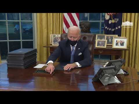 Remarks: Joe Biden Signs Executive Orders in the Oval Office - January 20, 2021