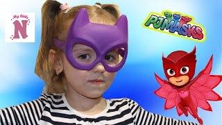 Настя одягає маску Бэтгерл batgirl mask і поспішає на допомогу Іграшки для дітей PJ Masks