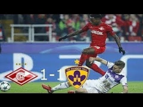 Spartak Moscow vs NK Maribor 1 1 All Goals and Highlights UEFA Champions League