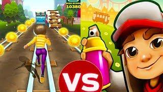 Subway Rush Runner VS Subway Surfers World Tour | Android Gameplay | Friction Games