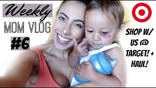 WEEKLY MOM VLOG #6! || SHOP WITH US AT TARGET + HAUL! | Cleaning Supplies | Toddler snacks