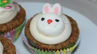 Carrot Cake Cupcakes With Cream Cheese Frosting Easter