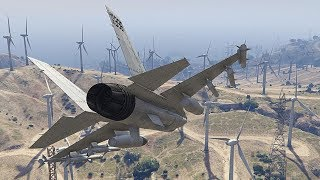 GTA 5 BRUTAL AIRPLANE CRASHES AND LANDINGS COMPILATION!!!