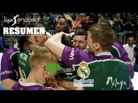Unicaja - Real Madrid (103-102) RESUMEN // Jornada 19 Liga Endesa
