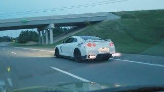 Random VW wants to race?? GTR POV Drive + M3 Burnout!!