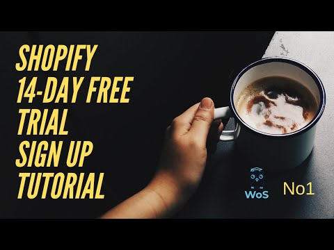 Shopify tutorial No1 | Sign up for Shopify 14-day free trial tutorial 2019/2020 thumbnail