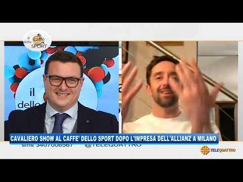 CAVALIERO SHOW AL CAFFE' DELLO SPORT DOPO L'IMPRESA DELL'ALLIANZ A MILANO | 02/02/2021