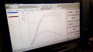 Test sur  banc d'essai, suite au #décalaminage moteur à #hydrogène.