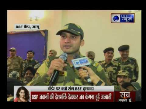 India News Exclusive: Kangana Ranaut celebrates Rangoon with BSF jawans in Jammu