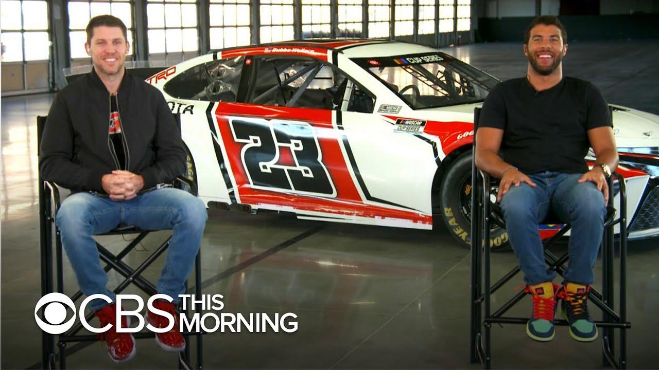 NASCAR stars Bubba Wallace, Denny Hamlin unveil race car for new 23XI Racing team
