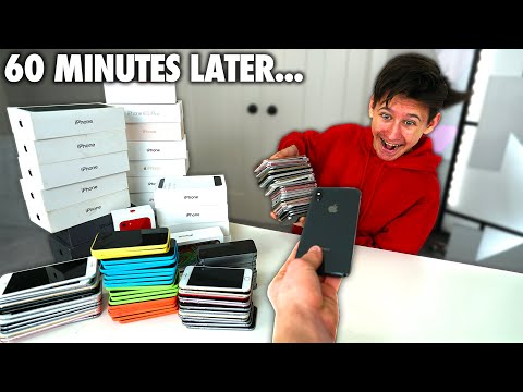 GIVING MY BROTHER an IPHONE Every MINUTE - Challenge