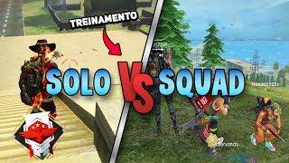 SOLO VS SQUAD, MEU TREINO DIÁRIO NO FREE FIRE thumbnail