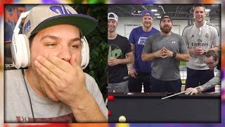 pool trick shots 2   dude perfect reaction