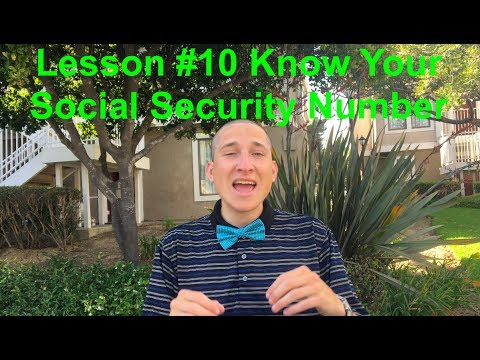 Life Lesson from Travel #10 Know Your Social Security Number